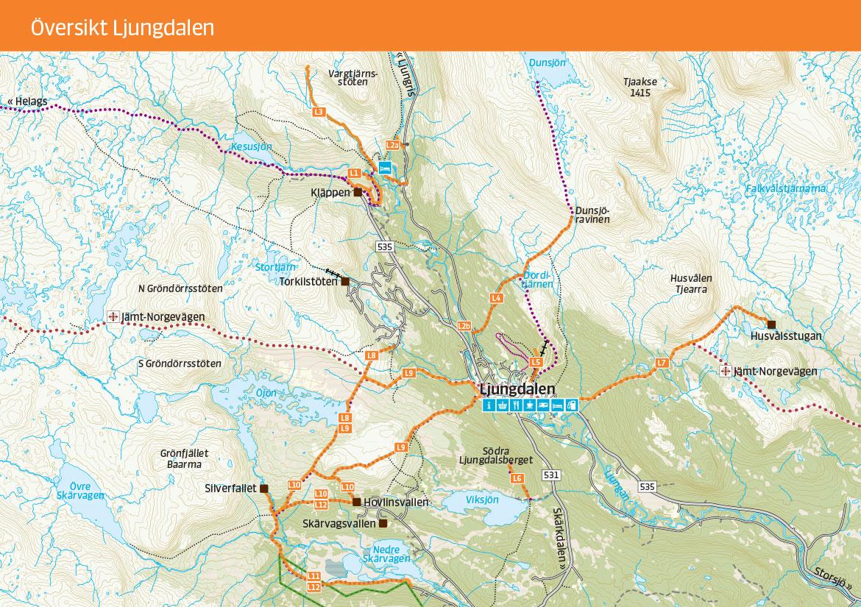 Vandringskarta Ljungdalen