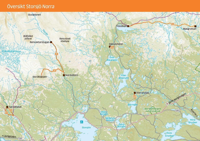 Vandringskarta Storsjö Norra